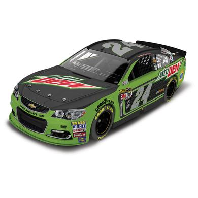 Hendrick Motorsports Chase Elliott 2016 #24 Mountain Dew 1:24 Scale AUTOGRAPHED Nascar Sprint Cup Series Die-Cast