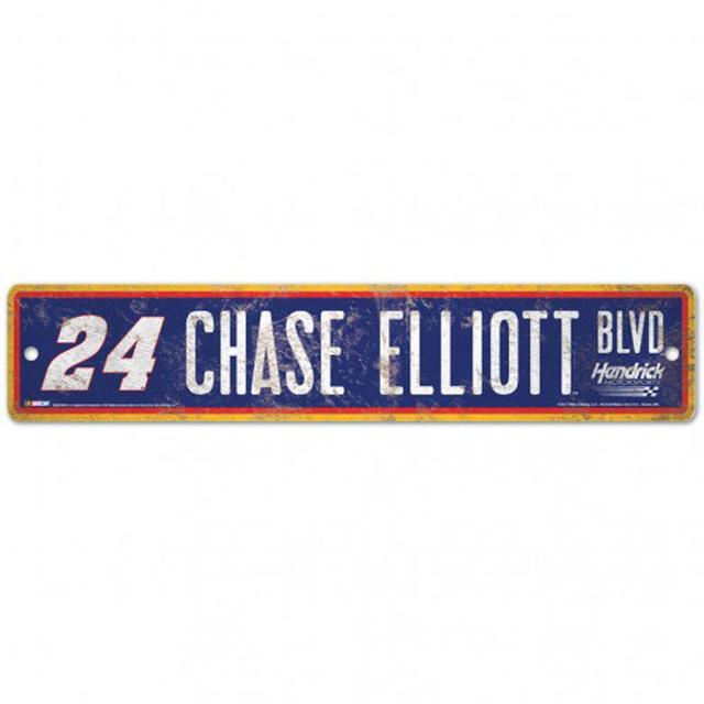 """Hendrick Motorsports Chase Elliott Street/Zone Sign - 4.5"""" x 17"""""""