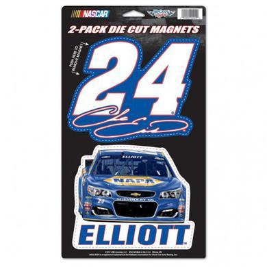 "Hendrick Motorsports Chase Elliott 2-pack Magnets - 5"" x 9"""