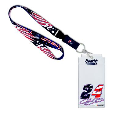 Hendrick Motorsports Chase Elliott #24 Patriotic Credential Holder with Lanyard