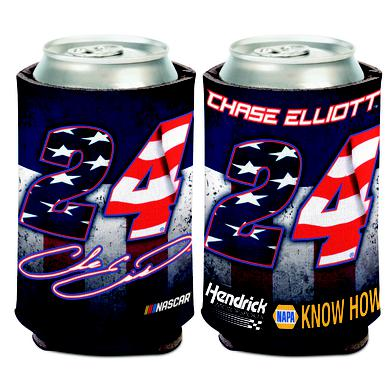 Hendrick Motorsports Chase Elliott #24 Patriotic Can Cooler - 12oz
