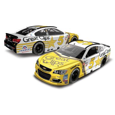 Hendrick Motorsports Kasey Kahne 2017 NASCAR Cup Series No. 5 Great Clips Throwback 1:24 Die-Cast