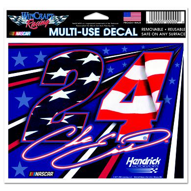 "Hendrick Motorsports Chase Elliott #24 Patriotic Multi-Use Decal - 5"" x 6"""