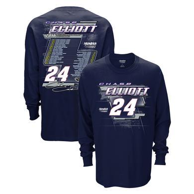 Hendrick Motorsports Chase Elliott #24 2016 L/S Schedule T-Shirt