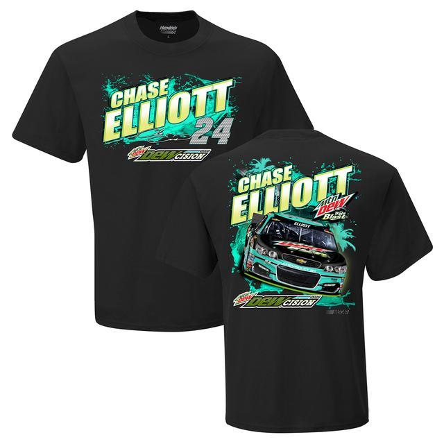 Hendrick Motorsports Chase Elliott #24 Mountain Dew Baja Blast T-Shirt