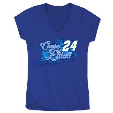 Hendrick Motorsports Chase Elliott #24 Fan Ladies V-Neck T-Shirt