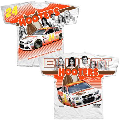 Hendrick Motorsports Chase Elliott Hooters Adult Total Print T-shirt