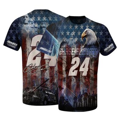 Hendrick Motorsports Chase Elliott #24 American Sublimated T-shirt