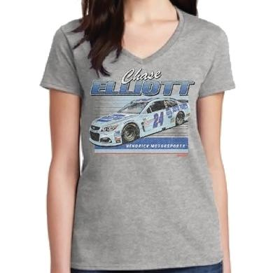 Hendrick Motorsports Chase Elliott 2017 #24 Darlington Ladies Car T-shirt