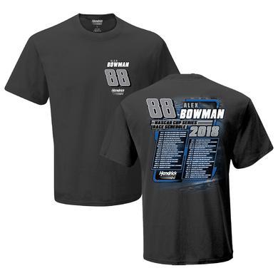 Hendrick Motorsports Alex Bowman #88 2018 NASCAR Schedule T-shirt