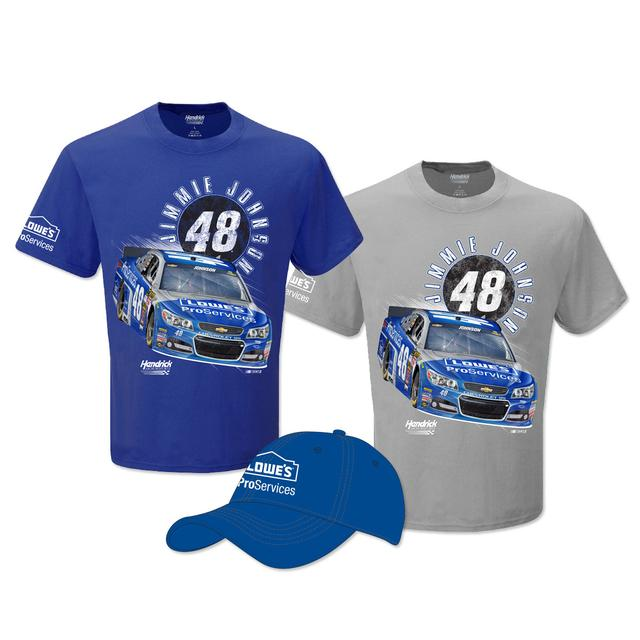 Hendrick Motorsports Jimmie Johnson Exclusive Lowe's ProServices Shirt and Hat Bundle