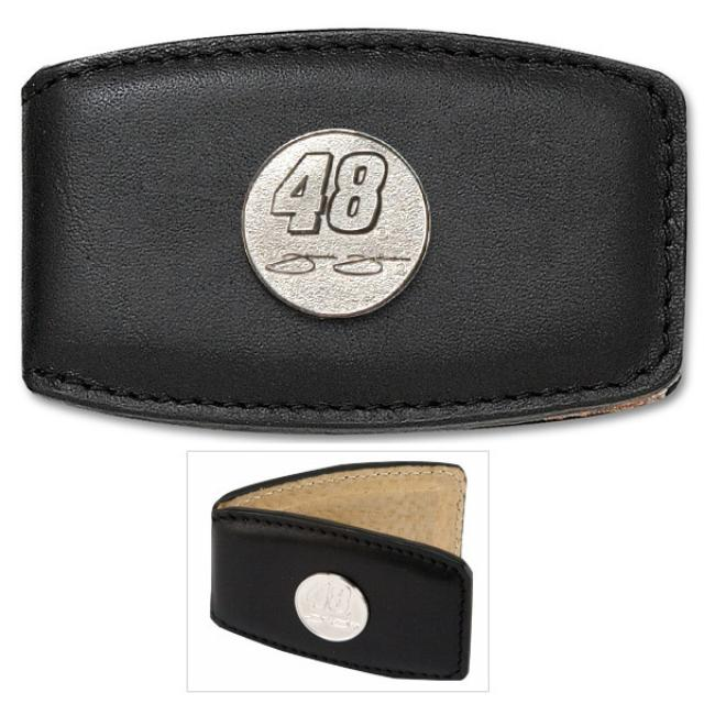 "Hendrick Motorsports Jimmie Johnson #48 3/4"" Leather Money Clip"