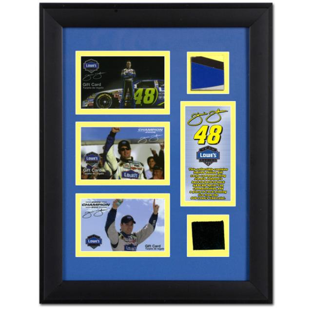 Hendrick Motorsports Jimmie Johnson EXCLUSIVE Framed 3-Time Champion Collectible