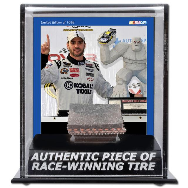 Hendrick Motorsports Jimmie Johnson #48 2009 Dover Win Tire Display Case