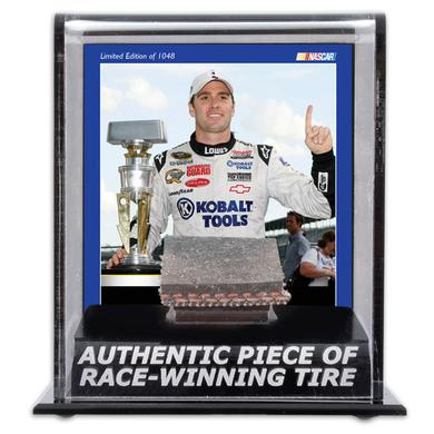 Hendrick Motorsports Jimmie Johnson 2009 Brick Yard 400 Tire Display Case w/ Photograph