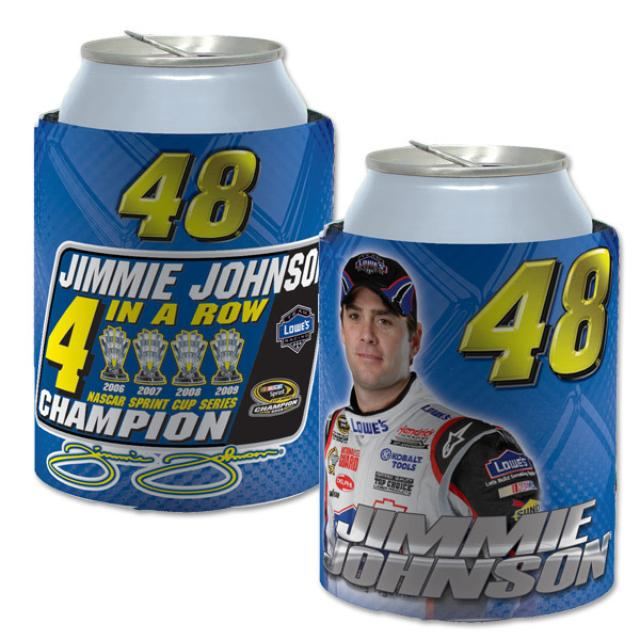 Hendrick Motorsports Jimmie Johnson 2009 4x-Champ Neoprene Can Cooler