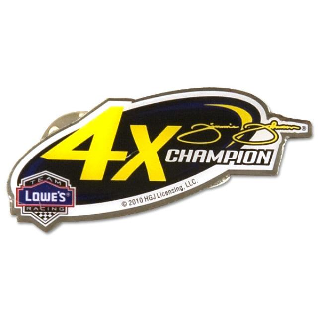 Hendrick Motorsports Jimmie Johnson 4x-Champ Lapel Pin