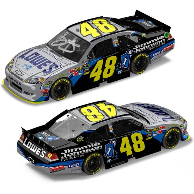 Hendrick Motorsports Jimmie Johnson 2011 #48 Foundation AUTOGRAPHED 1:24 Nascar Sprint Cup Series Die-Cast