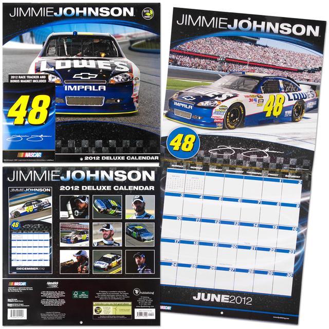 Hendrick Motorsports 2012 Jimmie Johnson #48 Deluxe Wall Calendar