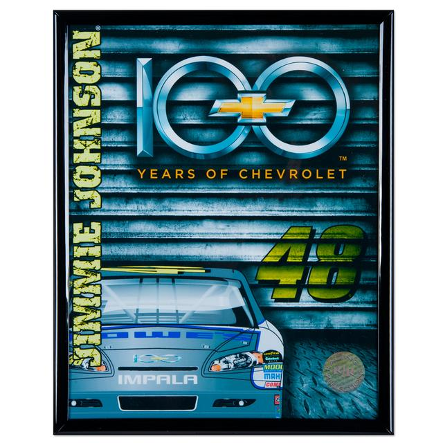 "Hendrick Motorsports Jimmie Johnson Chevy 100 Anniversary 8x10"" Frame Photo"