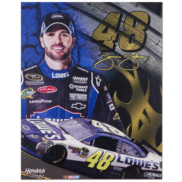 "Hendrick Motorsports Jimmie Johnson #48 11"" x 14"" Canvas Print"