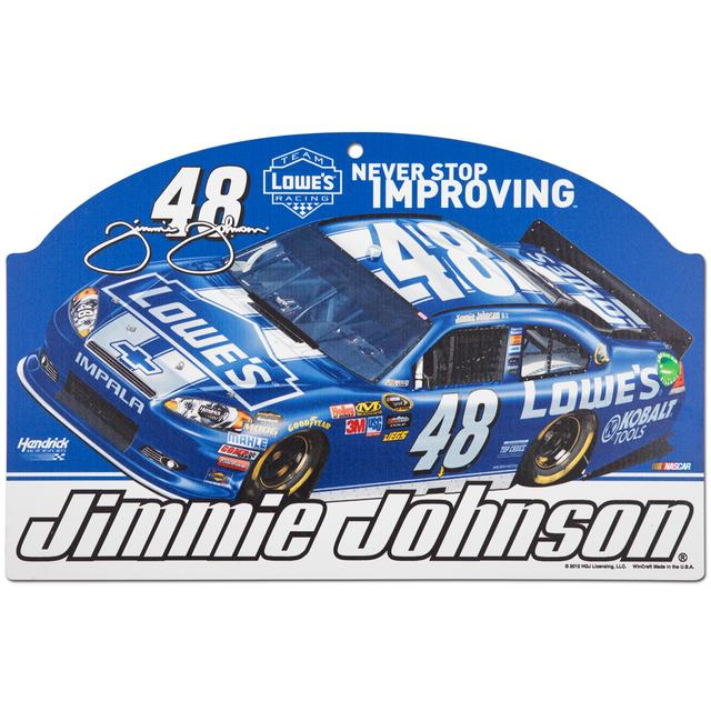 "Hendrick Motorsports Jimmie Johnson #48 Lowes 11"" x 17"" Wood Sign"