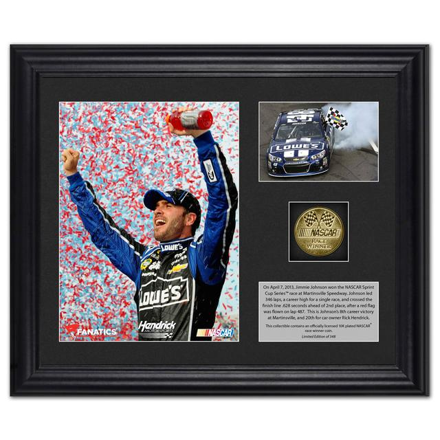 Hendrick Motorsports Jimmie Johnson 2013 Martinsville Win Photo(s) with Gold Coin