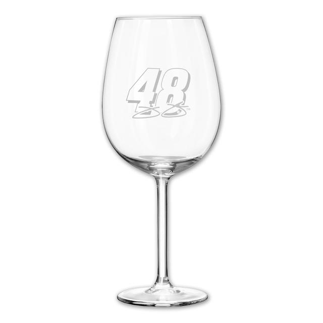 Hendrick Motorsports Jimmie Johnson #48 12oz Etched Wine Glass