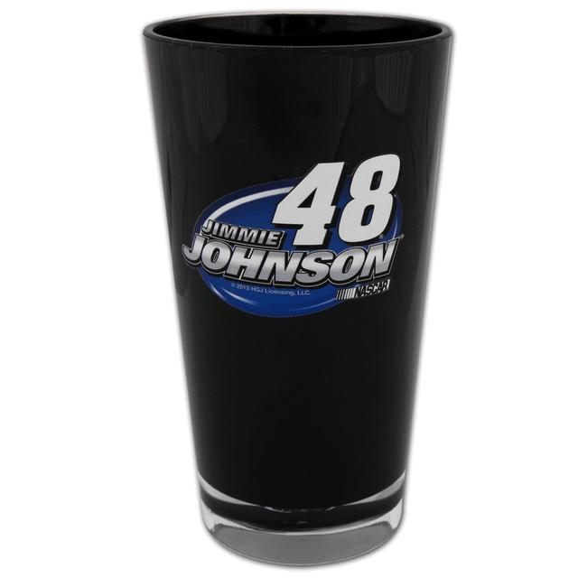 Hendrick Motorsports Jimmie Johnson #48 Plastic Pint Glass