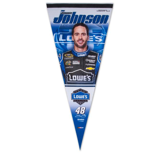 "Hendrick Motorsports Jimmie Johnson Lowes 17x40"" Premium Pennant"