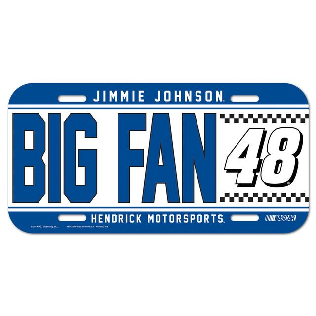 Hendrick Motorsports Jimmie Johnson-2014 Big Fan License Plate