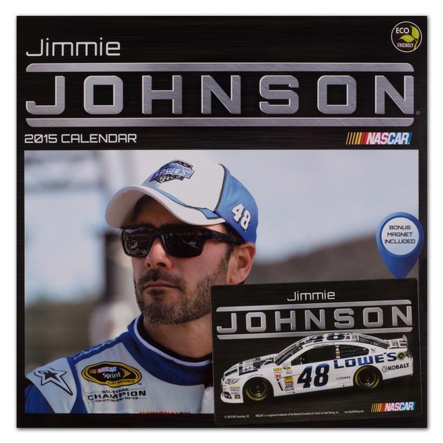 "Hendrick Motorsports Jimmie Johnson #482015 12""x 12"" Wall Calendar"