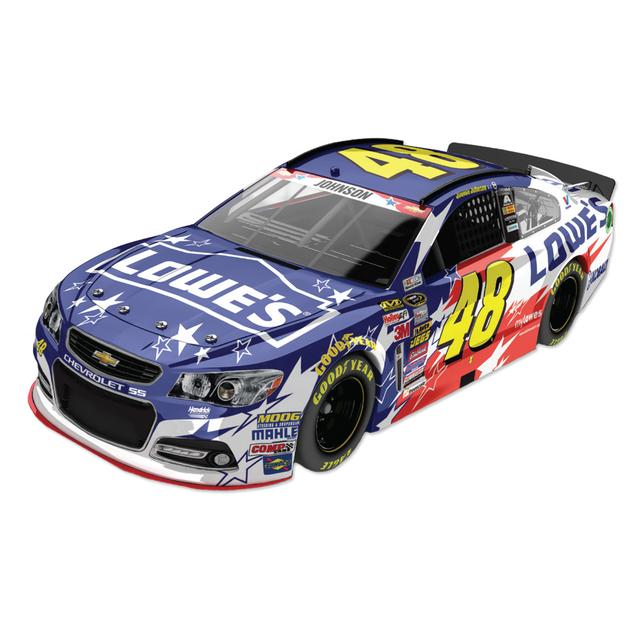 Hendrick Motorsports Jimmie Johnson - #48 Lowe's An American Salute 2014 Nascar Sprint Cup Series Diecast 1:24 Scale Color Chrome