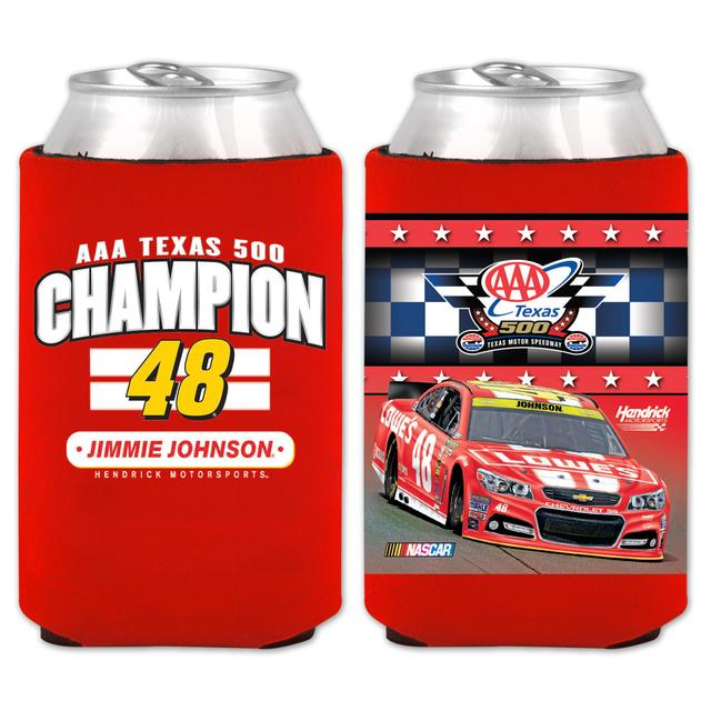 Hendrick Motorsports Jimmie Johnson #48  2014 Texas Win Lowe's Red Vest Koozie