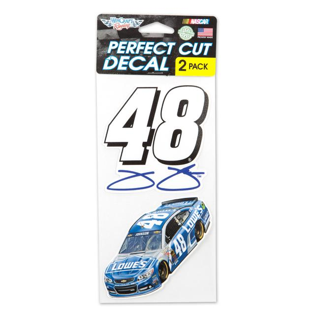 "Hendrick Motorsports Jimmie Johnson  Perfect Cut Decal 4"" x 4"" Set of Two"