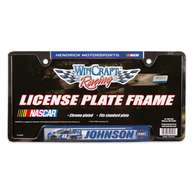 Hendrick Motorsports Jimmie Johnson 2015 Metal License Frame