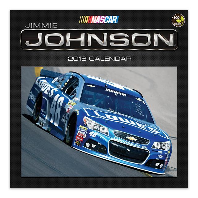 "Hendrick Motorsports Jimmie Johnson #482016  12""x 12"" Wall Calendar"