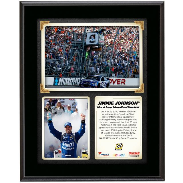 Hendrick Motorsports Jimmie Johnson 2015 Dover Race Win Sublimated 10.5'' x 13'' Plaque