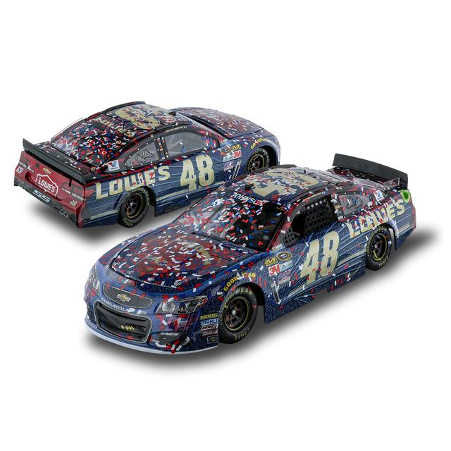 Hendrick Motorsports Jimmie Johnson #48 2016 AUTO CLUB 400 Race Win Superman 1:24 Diecast