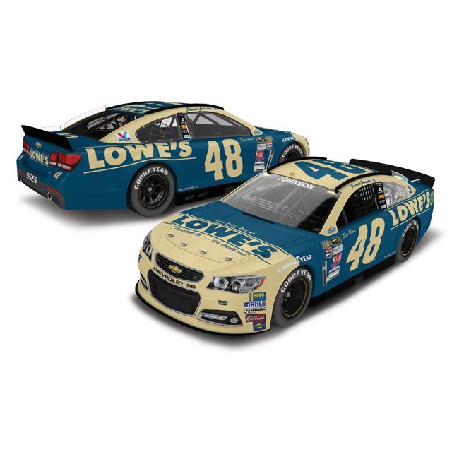 Hendrick Motorsports Jimmie Johnson 2015 #48 Darlington Throwback 1:64 Scale Nascar Sprint Cup Series Die-Cast
