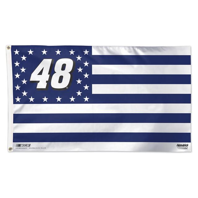 Hendrick Motorsports Jimmie Johnson #48 Stars and Stripes 3' X 5' Deluxe Flag