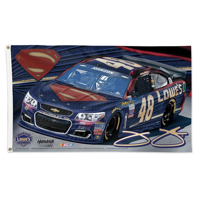 Hendrick Motorsports Jimmie Johnson #48 Superman 3' x 5' Deluxe Flag