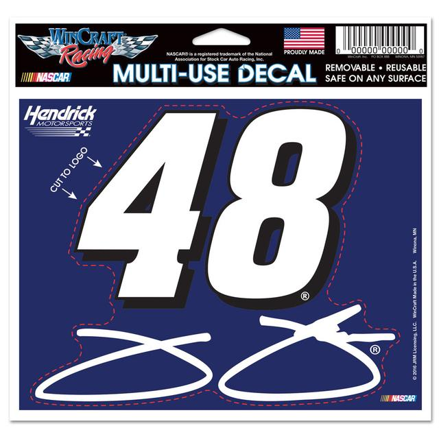 "Hendrick Motorsports Jimmie Johnson #48 4.5"" x 5.75"" Multi-Use Decal"