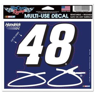 "Hendrick Motorsports Jimmie Johnson #48 4.5"" x 5.75"" Multi-Use Decal"