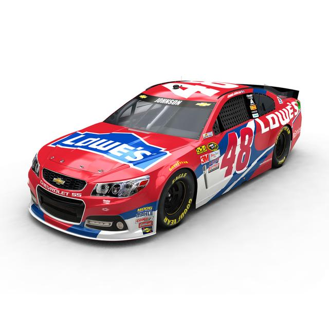 Hendrick Motorsports Jimmie Johnson 2016 #48 Lowe's Red Vest 1:24 Scale Nascar Sprint Cup Series Die-Cast