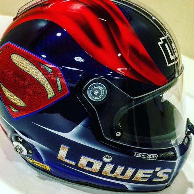 Hendrick Motorsports Jimmie Johnson #48 Superman Mini Replica Helmet