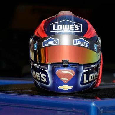 Hendrick Motorsports Jimmie Johnson #48 Superman Mini Replica Helmet