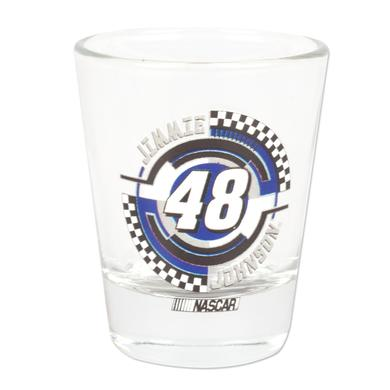 Hendrick Motorsports Jimmie Johnson #48 2 oz. Collector Glass