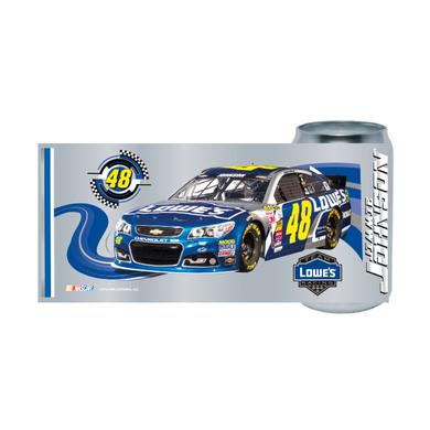 Hendrick Motorsports Jimmie Johnson #48 Chrome Can Glass Tumbler
