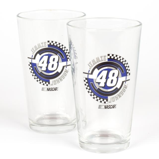 Hendrick Motorsports Jimmie Johnson #48 2 Pack Mixing Glasses